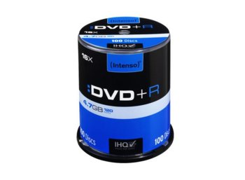 Intenso DVD+R 16x 4,7GB (100 Cake)