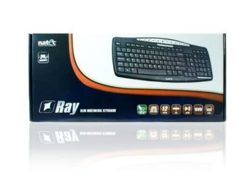 NATEC Klawiatura Multimedialna Ray Slim Black USB