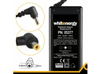 Whitenergy Zasilacz 20V | 3.25A 65W wtyk 5.5 x 2.5mm  05377