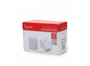 Gembird Homeplug Lan PLC Adapter 500Mbps White