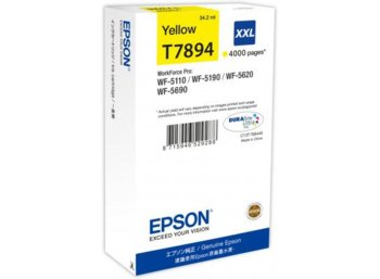 Epson Tusz C13T789440/34,2ml Yellow/do WF-5xxx Series