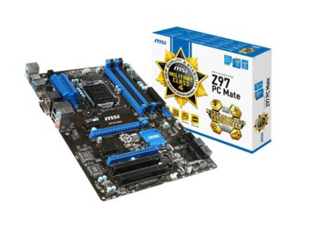 MSI MSI Z97 PC Mate s1150 Z97 4DDR3 RAID/USB3 ATX