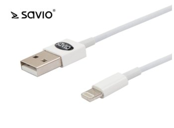 Elmak SAVIO CL-64 Kabel USB - Lightning 8pin, iOS8, iPhone 5/6, 1m