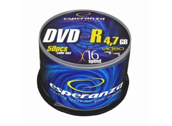 Esperanza DVD-R 4,7GB x16 - Cake Box 50