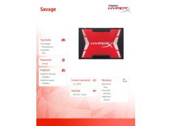 HyperX SSD SAVAGE 480GB SATA3 2.5 560/530MB/s + upgrade bundel