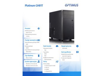 OPTIMUS Platinum GH81T i5-4590/8GB/1TB+120/W710P