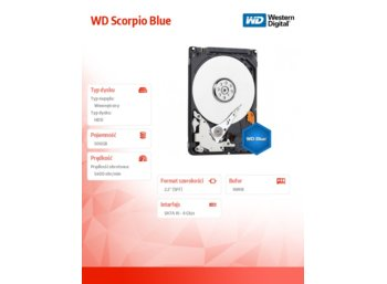 Western Digital WD Scorpio Blue 500GB 2,5'' 16MB WD5000LPCX