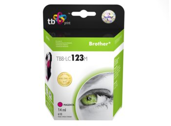 TB Print Tusz do Brother LC123 Magenta TBB-LC123M