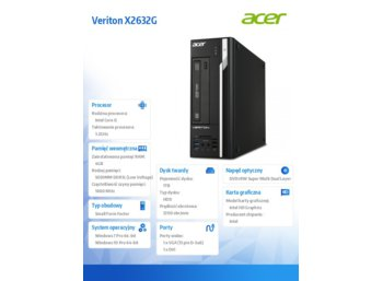 Acer PC Veriton X2632G Win7/Win10Pro i5-4460/4GB/1TB/DSM16XS/TPM/USB/Pro2/USB_black_common_A