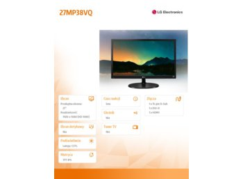 LG Electronics 27'' 27MP37VQ-B  LED IPS HDMI/DVI
