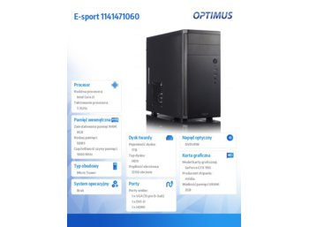 OPTIMUS E-sport GH81T i3-4170/8GB/1TB/StrixGTX950