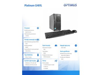 OPTIMUS Platinum GH81L i5-4460/4GB/1TB/W710P