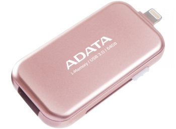 Adata Dashdrive I-memory UE710 64GB USB3.0 + Lightning Rose Gold
