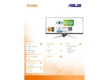 Asus 34' PG348Q G-sync IPS Curved HDMI DP