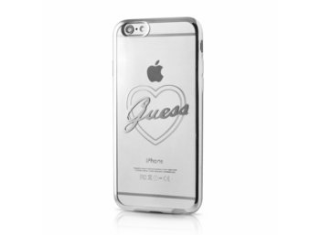GUESS Hardcase GUHCP6TRHS iPhone 6/6S silver heart signature