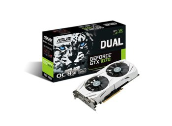 Asus GeForce CUDA GTX1070 DUAL 8GB DDR5 256BIT DVI/HDMI/DP OVERCLOCK