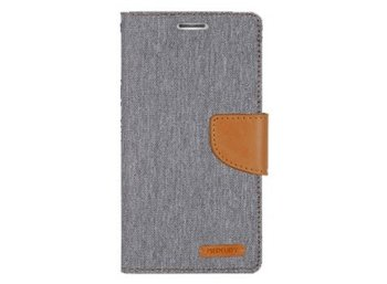 Mercury Etui CANVAS Galaxy A7 szaro/karmelowe, notes