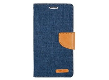 Mercury Etui CANVAS iPhone 6/6s granatowo/karmelowe, notes