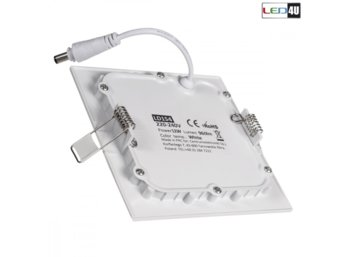Maclean Panel LED sufitowy podtynkowy slim 12W Cold white 5500-6500K Led4U LD154C 170*170*H20mm