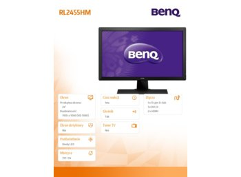 Benq 24'' RL2455HM LED 1ms/12mln:1/DVI/HDMI/GAMING