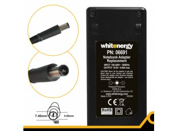 Whitenergy Zasilacz ( 06691) 18.5V | 4.9A 90W wtyk 7.4x5.0 mm + pin HP
