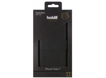 Holdit Selected walletcase Apelviken skóra czarny iPhone 6 6s 7
