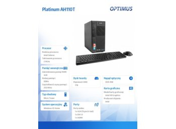 OPTIMUS Platinum AH110T G3930/4GB/1TB/DVD/W10Home