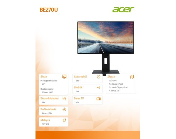 Acer Monitor 27 BE270U