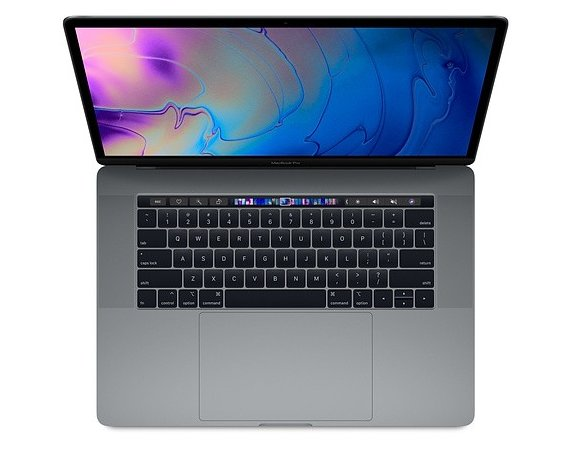 Apple MacBook Pro 15 Touch Bar, 2.6GHz 6-core 9th i7/16GB/512GB SSD/RP555X - Space Grey MV902ZE/A/D1