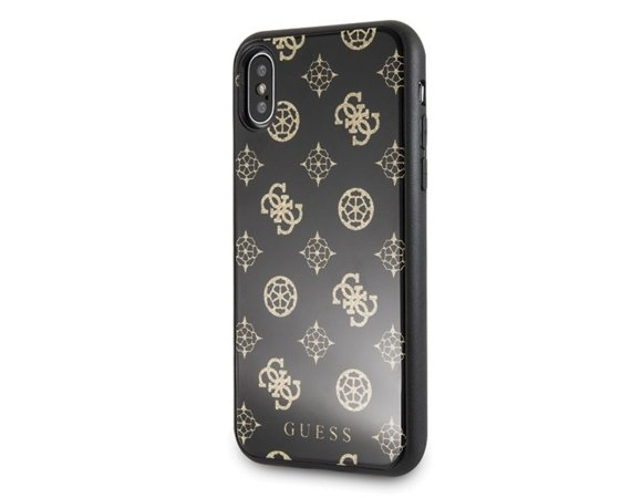 GUESS Etui hardcase GUHCPXTGGPBK iPhone X/Xs czarny Peony G Double Layer Glitter
