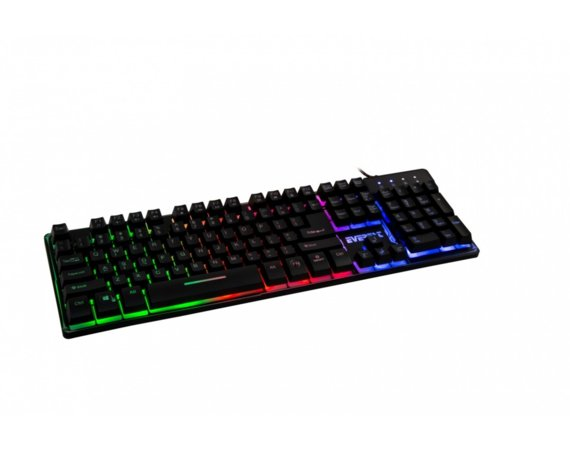 EVEREST KB-GX9 Black US Gaming Multicolor LED