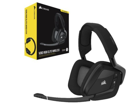 Corsair Słuchawki  Void RGB Elite Wireless Headset Carbon