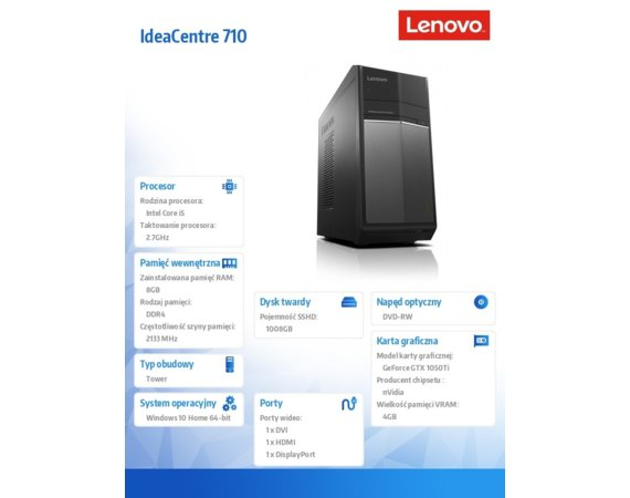 Lenovo IdeaCentre 710-25ISH 90FB007EPB