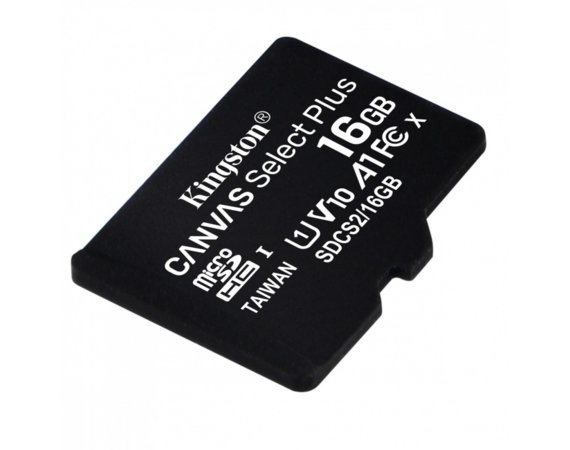 Kingston Karta pamięci microSD  16GB Canvas Select Plus 100MB/s