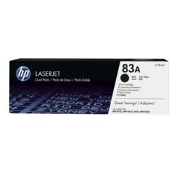 HP Inc. Toner 83A Black 1.5k Dual Pack CF283AD