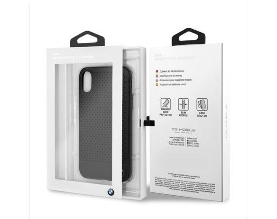 BMW Etui hardcase BMHCPXPEBOBK iPhone X czarny Perforated