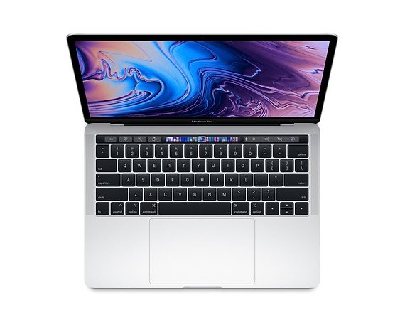 Apple Laptop MacBook Pro 13 Touch Bar, i5 2.3GHz quad-core/16GB/256GB SSD/Intel Iris Plus 655 - Silver MR9U2ZE/A/R1
