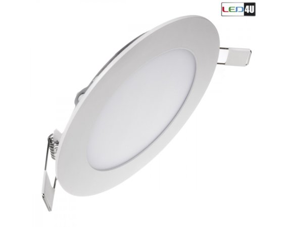 Maclean Panel LED sufitowy podtynkowy slim 12W Warm white 2800-3200K Led4U LD153W Fi170*H20mm