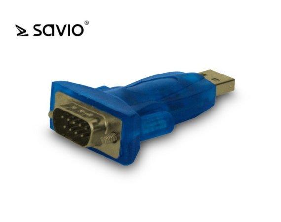 Elmak SAVIO CL-22 Adapter USB 2.0 do RS 9-pin + kabel USB