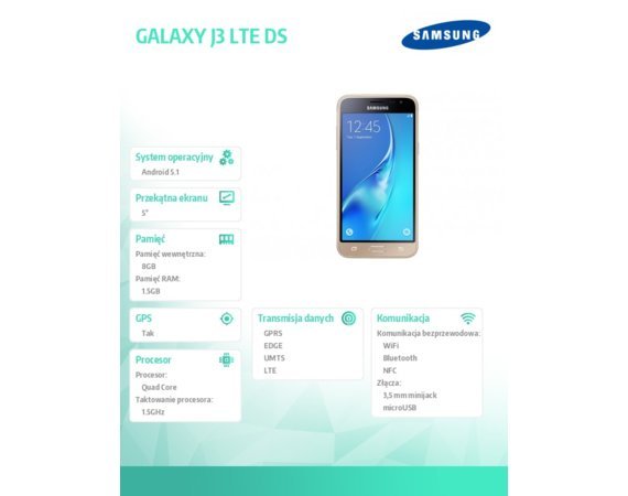 Samsung GALAXY J3 LTE DS GOLD