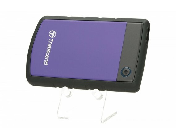 "Transcend StoreJet 25 H2P 500GB 2.5"" USB2.0 Violet - Rubber Case, Anti-Shock"