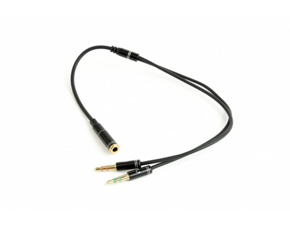 Gembird Adapter audio stereo 2x3.5mm minijack, 4PIN, 0.2m