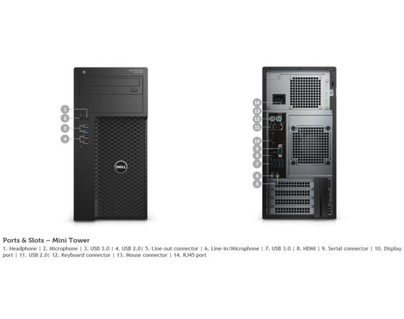 Dell Precision T3620 i7-6700 8GB 1TB K420 Win7P 3Y