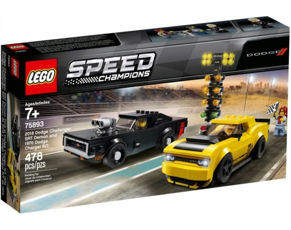 LEGO Klocki Speed Champions 2018 Dodge Challenger SRT Demon oraz 1970 Dodge Charger R/T GXP-671524