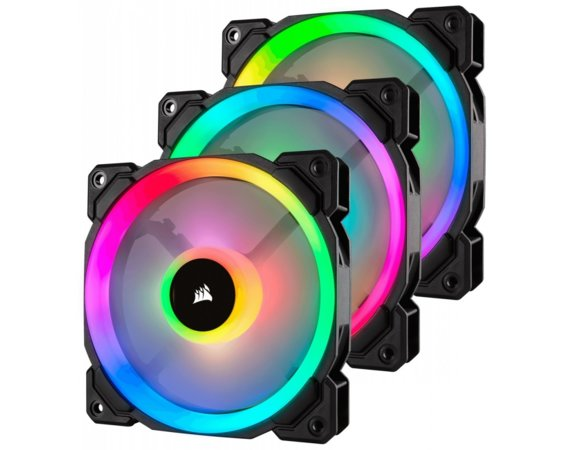 Wentylator CORSAIR LL120 RGB LED Dual Light Loop 3-pack