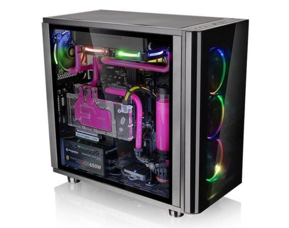 Thermaltake View 31 Tempered Glass RGB - Black