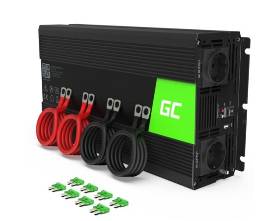Green Cell Przetwornica 12V/230V 2000W/4000W Mod sinus