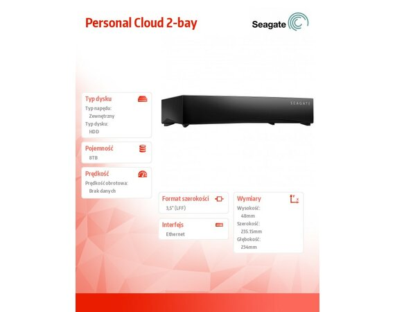 Seagate Personal Cloud 2-bay 8TB STCS8000201