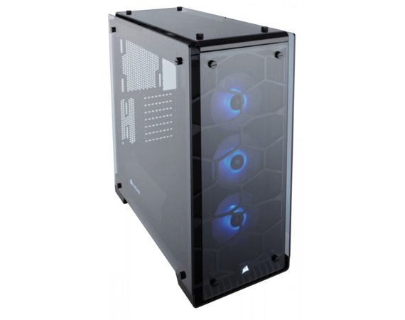 Corsair Crystal Series 570X RGB Compact ATX   Mid-Tower Case