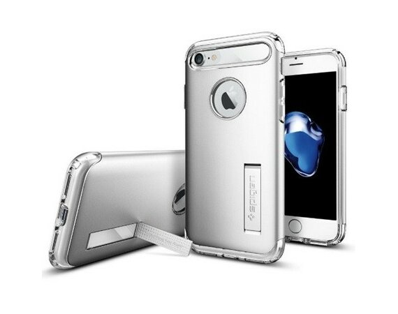 SPIGEN SGP  Slim Armor Satin Silver Etui iPhone 7/8